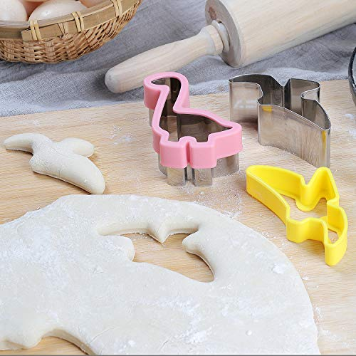 Details about  /Dinosaur Cookie Cutters Set 8pcs Stainless Steel Shaped Candy Food Molds DIY,