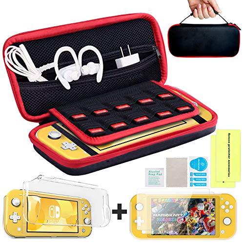Th-some Funda para Nintendo Switch Lite,6 en 1 Kit de Accesorios para Nintendo Switch Lite Funda Transparente de TPU Suave + Protector de Pantalla para Switch Lite