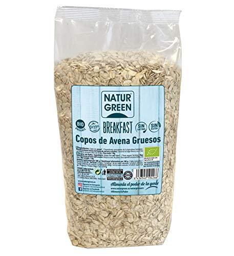 NaturGReen Copos de Avena Gruesos Sin Gluten Bio 1 Kg