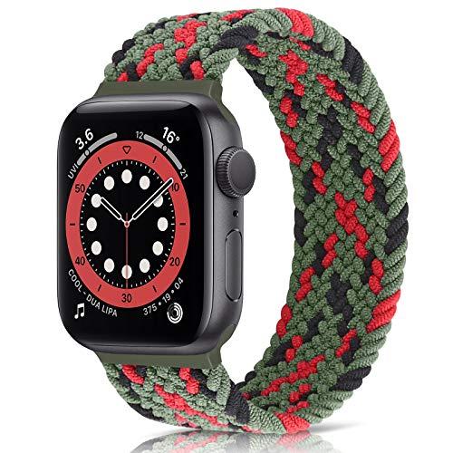 Runostrich - Correa de reloj enteriza compatible con Apple Watch de 40 mm y 38 mm, trenzada, para iWatch 6/SE/5/4/3/2/1