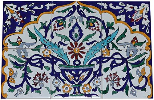 Fliesenbild Keramikfliesen Orientalisch Handbemalt Wandfliesen Mediterran (06 29)