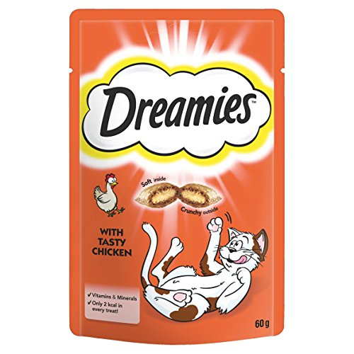 Dreamies -Golosinas para gatos, sabor: Pollo, 60 g (Pack of 8)
