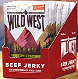 Wild West Beef Jerky Protein Trockenfleisch Beef Pack Beefjerky Snack Fitness 16x 25 Gramm (Jalapeno)
