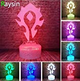 Anime Tribe Figure Wow Frostmourne The Lich King Arthas Menethil Smart 7 Colors Change Night Light Gifts,Style 6