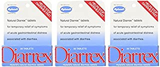 Hyland's Diarrex Tablets, Natural Relief of Diarrhea Symptoms, 50 Quick Dissolving Tablets (Pack of 3)