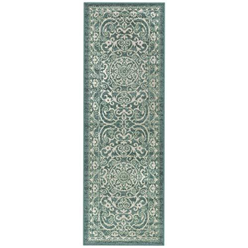 Maples Rugs Pelham Vintage Runner Rug Non Slip Washable Hallway Entry Carpet [Made in USA], 1