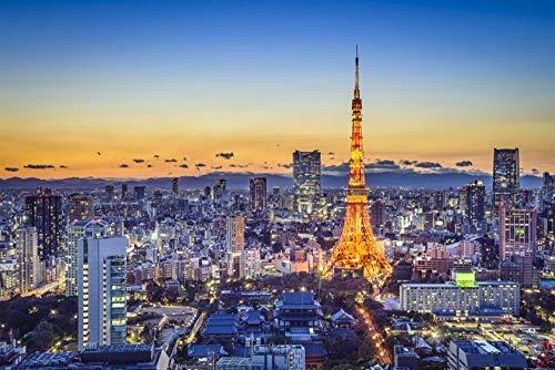 MTAMMD Puzzles Tokio Japón Casas Paisaje Adulto Rompecabezas De Madera 500 1000 Piezas Niños Rompecabezas Educativos Juguetes Niño Juguete De Aprendizaje Temprano Regalo-1000Pieces