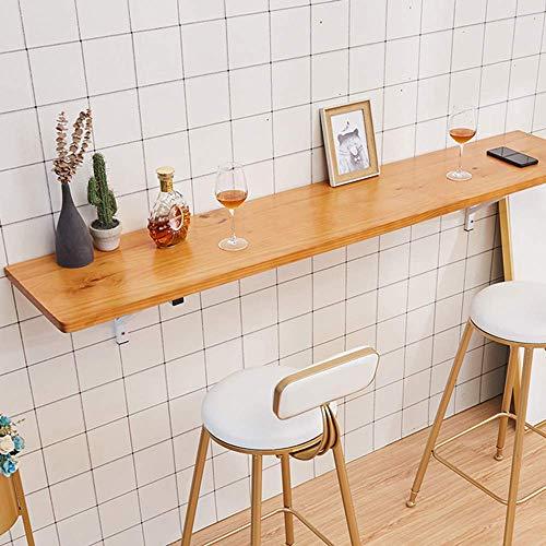 XLAHD An der Wand montierter Klapptisch, Klapptisch Workbench Kitchen Esstisch für Arbeitszimmer, Schlafzimmer, Home Bar/Balkon, maximale Belastung 50 kg für Office Home Kitchen