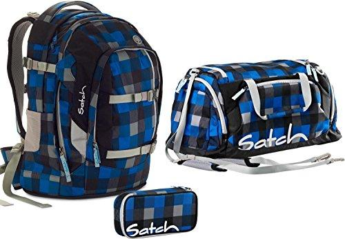 Satch Schulrucksack-Set 3-TLG Pack Airtwist Blau