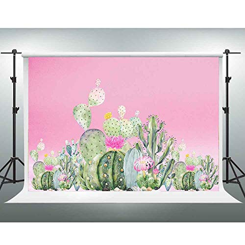 GESEN Watercolor Painting Background 10x7ft Cactus Photography Backdrop for Pictures Themed Party Background Photo Studio Booth Shooting Props PGGE372