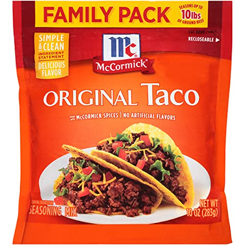 McCormick Taco Seasoning Mix, 10 oz Now $1.77 (Was $2.83)