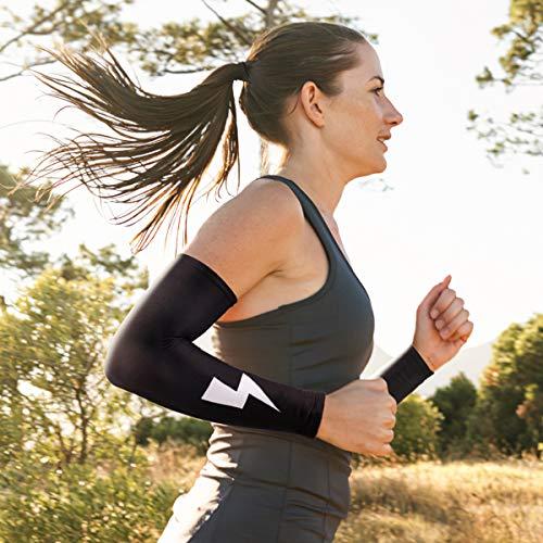 Olele Arm Sleeves Armwärmer Ärmlinge Outdoor-Sportverbände, Kompression Stirnbänder und Kühlmanschetten, Ärmel Staubschutz UV-Schutz, für Radfahren Laufen Damen Herren