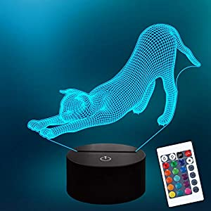 Lampeez 3D Lamp Night Light 3D Illusion lamp for Kids, 16 Colors Changing with Remote, Kids Bedroom Decor as Xmas Holiday Birthday Gifts for Boys Girls