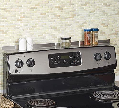 Magnetic Instant Stove Top Shelf for Kitchen Organization - Stainless Steel
