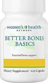 Better Bones Basics by Women's Health Network - Calcium, Magnesium, Zinc, Vitamin D, Vitamin K, Manganese, and Boron - 120 Capsules