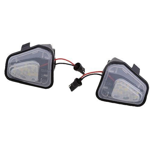 MagiDeal 2pcs LED Luz de Charco Espejo Lateral de Coche Piezas para EOS Passat CC Scirocco