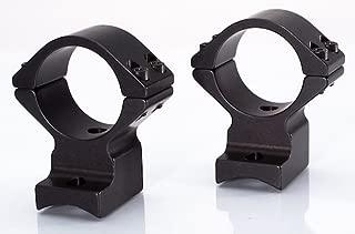 Talley - 1 inch, (Medium - 0.550 inch Front) (Black Anodized) Browning A-Bolt, Steyr SBS, Pro Hunter, Sako A7 - Alloy Lightweight Scope Mounts w/Standard 6-48 Receiver Screws / 940000