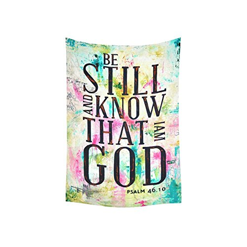 D Story Custom Wall Tapestry Bible Verse Quote Be Still Anf Know That I Am God Cotton Linen Tapestry Wall Hanging 40 X 60 Wall Art Home Decor Buy Online In Cayman Islands