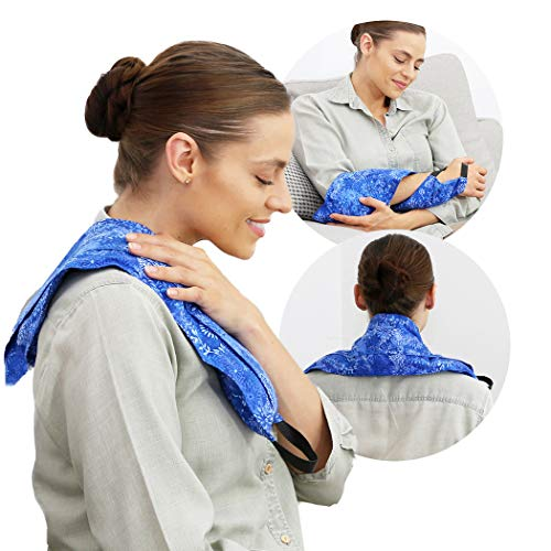Hot Pockets All Purpose Microwavable Rice Heating Pad for Neck and Shoulders Pain Relief -...