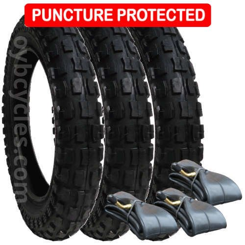 Phil & Teds Dash Tyres and Inner Tubes - set of 3 - Heavy Duty - Puncture Protected