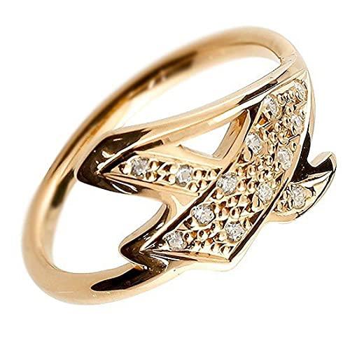 [アトラス]Atrus リング メンズ 10金 ピンクゴールドk10 キュービックジルコニア ナンバー4 指輪 数字 ストレート 29号
