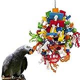 MQUPIN Jouet à mâcher pour grands perroquets multicolores en...