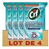 Cif Lingettes Nettoyantes Antibactériennes Multi-Usages 480 Lingettes (Lot de 4x120...