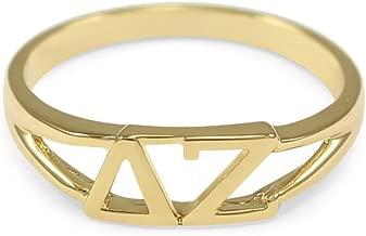 The Collegiate Standard Delta Zeta 14k Gold Plated Sorority Ring with Greek Letters