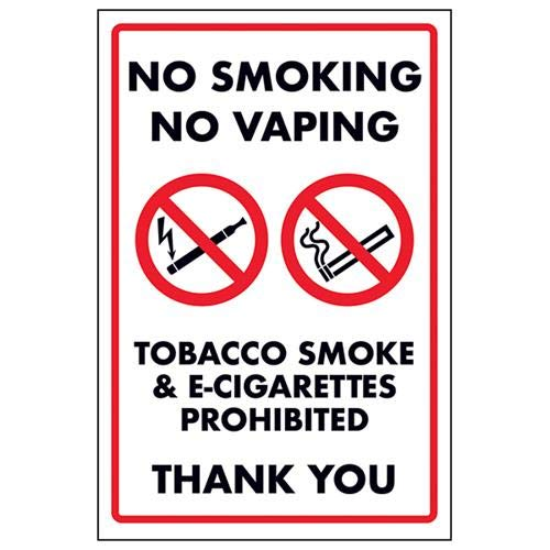PRS.56W-SA Self Adhesive No Smoking Including All Electronic Smoking Devices Sign 150mm x 200mm