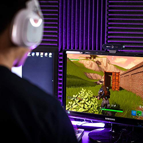 Logitech BRIO STREAM Webcam, 4K Ultra-HD 1080p, Weites anpassbares Blickfeld, USB-Anschluss, Abdeckblende, Abnehmbarer Clip, Für Skype, Zoom, Xsplit, Youtube, PC - Schwarz, Streaming Edition