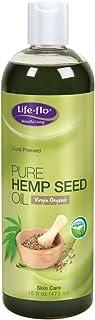 Life-Flo Pure Hemp Seed Oil, Virgin & Organic | Nourishing, Moisturizing Face & Body Oil | Cold-Pressed & No Hexane | 16oz