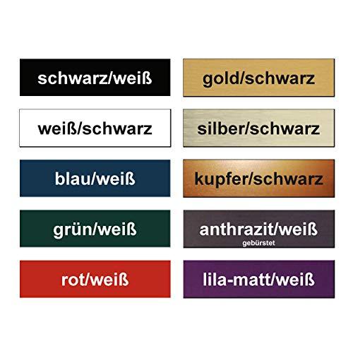 1x Klingelschild selbstklebend - Briefkastenschild Türschild Namensschild mit Gravur - Witterungsbeständig