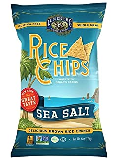 Lundberg, Rice Chips, Sea Salt, 6 oz (170 g)(packs of 3)
