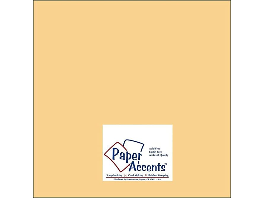 Accent Design Paper Accents Cdstk Muslin 12x12 74# Candlelight