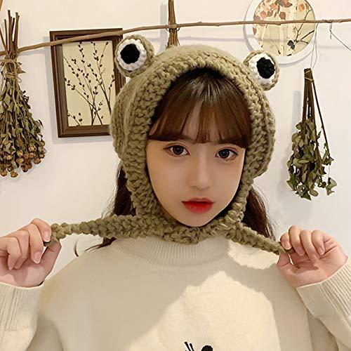CHENJIE Frog Hat Crochet Knitted Ha…