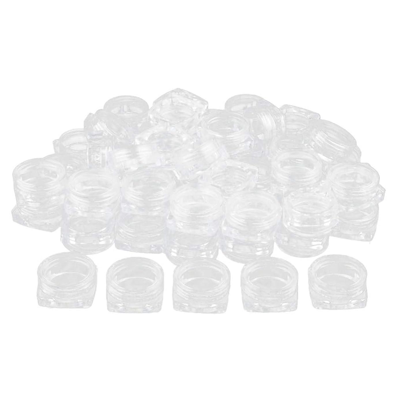 有利刺すコイルBaoblaze 約50個 メイクアップボトル クリア ポット コスメ 化粧品 詰替え容器 プラスチックジャー - 3g