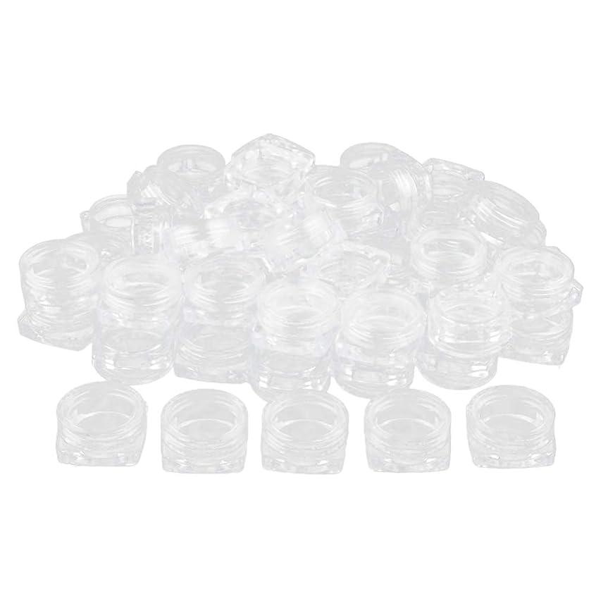 推測出版弱いBaoblaze 約50個 メイクアップボトル クリア ポット コスメ 化粧品 詰替え容器 プラスチックジャー - 5g