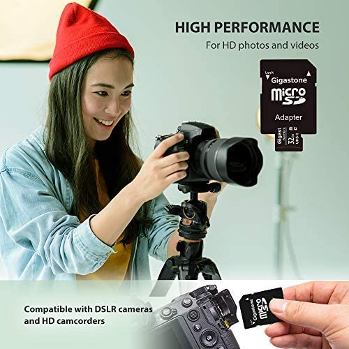 Gigastone 32GB 2-Pack Micro SD Card, FHD Video, Surveillance Security Cam Action Camera Drone Professional, 90MB/s Micro SDHC UHS-I U1 Class 10