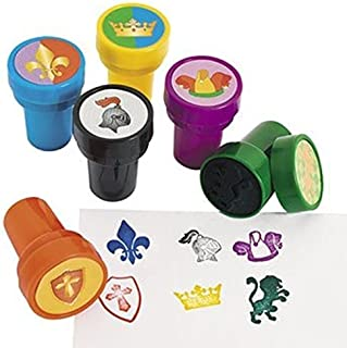 Fun Express 24 - MEDIEVIL STAMPERS - Knight Party Favors