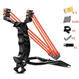 ucho Professional Slingshot Set,Outdoor Shot Slingshot Hunting Wrist Rocket Slingshot with High Velocity Catapult for Adult and Kids