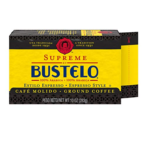 Supreme By Café Bustelo Coffee, Espresso Style Ground Coffee Brick, 10 Ounces, 12 Count