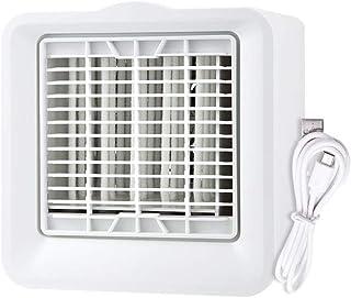 WHHK Refrigerador de Aire portátil, Mini humidificación del Aire Acondicionado Ventilador USB Recargable Móvil Personal 3 Velocidad del Viento de Escritorio más Fresco for el hogar Oficina Dormitorio