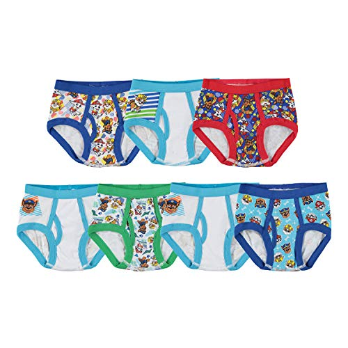 Nickelodeon Handcraft Little Boys Toddler Paw Patrol  Brief (Pack of 7), Assorted, 2/3T