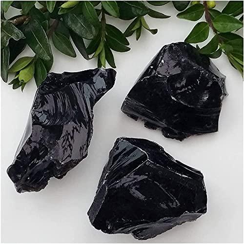 LIOYUHGTFY Cristal Curativo Piedras Preciosas Material de Talla de Lana de Mineral de obsidiana en...