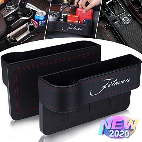 Jeteven 2 Packs PU Leather Car Organizer Front Seat Filler,...