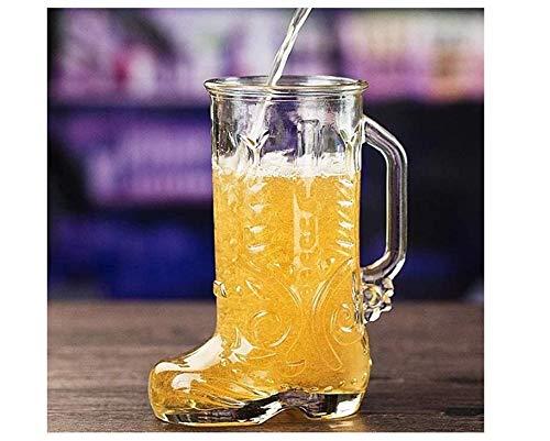 Rudolf Kreative Bierglas Glasbierkrug, Oktoberfest-Bierkrug, Combat Boots Mug, ideal für Restaurants, Biergärten und Partys