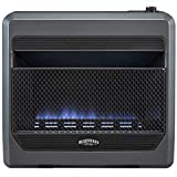 Bluegrass Living Natural B30TNB-BB Vent Free Blue Flame Gas Space Heater with Blower and...