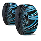 7. Alien Pros Bike Handlebar Tape Carbon Fiber (Set of 2) Black Blue - Enhance Your Bike Grip with These Bicycle Handle bar Tape - Wrap Your Bike for an Awesome Comfortable Ride