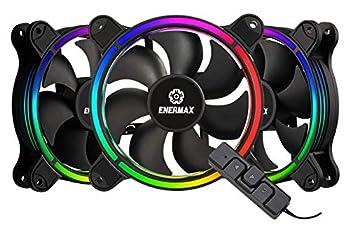 Enermax T.B RGB AD Edition 3 Pack of 120mm PWM Case Fan  Unique 4-Ring Addressable RGB Lighting Sync via Motherboard/RGB Control Box  UCTBRGBA12P-BP3