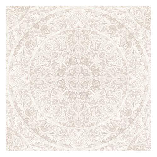 Fototapete Premium - Mandala Aquarell Ornament beige - Quadrat 192 x 192cm